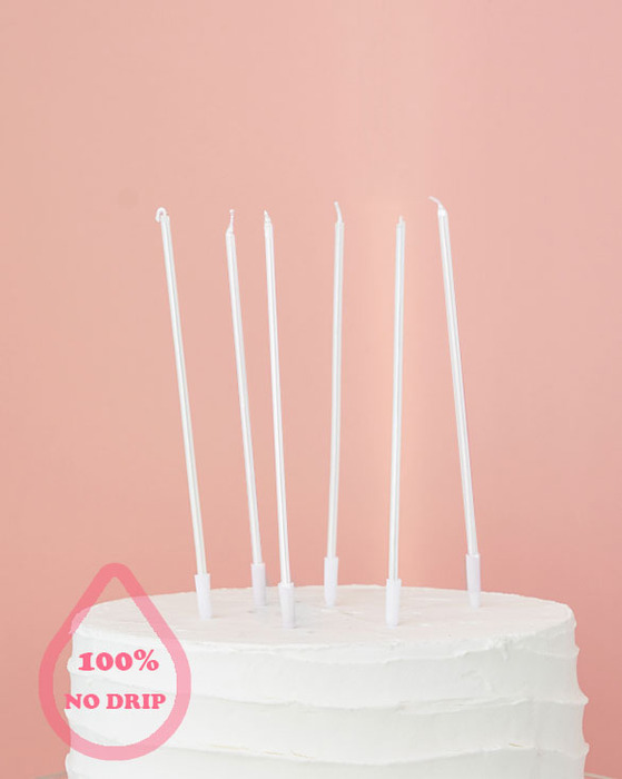PEARL STICK CANDLES 6 [WHITE]